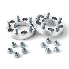 125 Wheel Adapters Spacers 5x5 To 5x55 783mm Bore 12 Studs Nuts Fits Ford