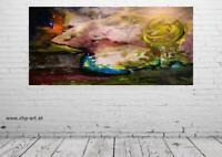 Großes Acryl Gemälde XXL Modern CHP B Handgemalt Bild Kunst Abstrakt 200x100 cm