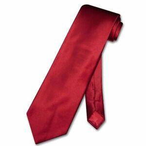 Biagio 100% SILK NeckTie Solid Dark RED Color Mens Neck Tie