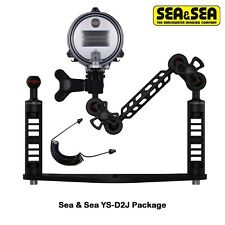 Underwater Tray Brackets Package Sea and Sea D2-J Strobe and Fiber-Optic Cable