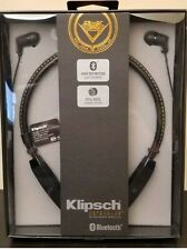NEW AND FACTORY SEALED! KLIPSCH R5 NECKBAND BLUETOOTH HEADPHONES. #1064311 BLACK