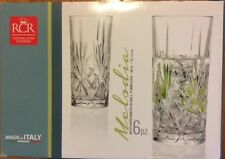 RCR LUXION Melodia Crystal Highball Cocktails Drink Glass Set of 6 Made in Italy