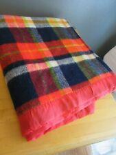 "Stevens-Utica Vintage Plaid Acrylic Blanket ~ 68"" by 84"""