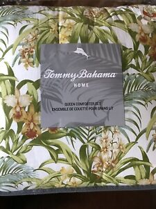 TOMMY BAHAMA  MAJORELLE FLORAL   3 PC   FULL QUEEN   COMFORTER SHAMS