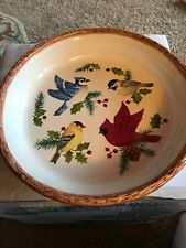 "Sonoma Home Knollwood Christmas Winter Birds 10"" Holiday Pie Plate"