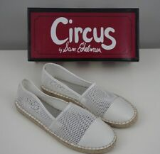 Circus Sam Edelman Women's 9.5 White Lena Espadrilles Slip On Flat Shoes NEW