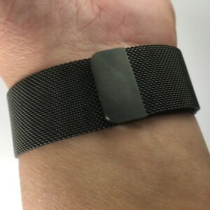 Stainless Steel Milanese Loop band strap for 42mm 44MM Apple Watch Space Black