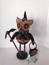 "Halloween Steam Punk Black Owl / 16"" / NWT"