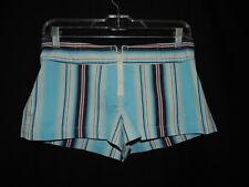 Express Stretch Women's Multi-Color Blue & White Striped Mini Shorts~Size~5/6