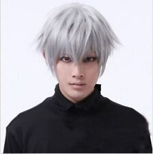 Grigio Vogue Tokyo Ghouls Ken Kaneki Cosplay Parrucca Uomo Corto Free Tracking