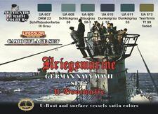 LIFECOLOR German Kriegsmarine #2 Camouflage Paint Set 6 22ml Bottles FREE SHIP