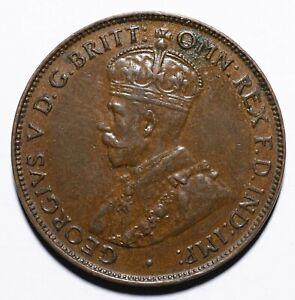 1933 Australia Half 1/2 Penny - George V - Lot 708