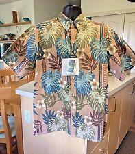 NWT Vintage Reyn Spooner Hawaiian Aloha Shirt Monstera Pan Pattern Large