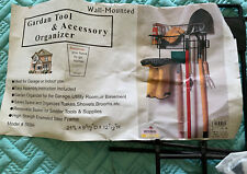 Inter-Pacific Designs Garden Tool & Accessory Organizer Wall Mount Never Used
