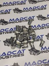 500x M8 304 stainless steel nutsert, rivnut  splined and flanged