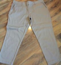 Tapered Cotton Blend Capris, Cropped Pants for Women