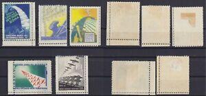 """Regno 1933 """"Crociera Aerea Decennale"""" serie di 5 vignette nuove MLH* linguellate"""