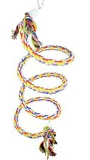 New listing 1045 Sm Rope Bungee Boing Coil Swing Bird Toy parrot cage toys conures cockatiel