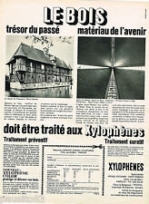 PUBLICITE ADVERTISING 055  1968  PECHINEY SAINT-GOBAIN  les XYLOPHENES  manoir