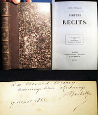 1855 PAUL NIBELLE SIMPLES RECITS INSCRIBED TO EDOUARD THIERRY COMEDIE FRANCAISE