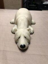 "Quarry Critters Papa Polar Bear Carved Soap Stone 8"" Long 2000"