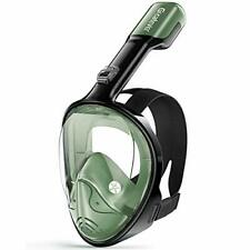 New listing Greatever Snorkel Mask Foldable Panoramic View Full Face Snorkeling Mask with...