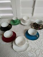 Lot of 7. Var Demitasse Tea Cups and Saucers sets. Very nice. Used.