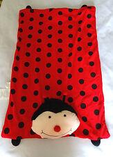 Ladybug Black Red Polka Dot Pillow Pet Blanket Sleep Nap Mat Plush Toy Throw