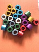 Anodised Aluminum Stand Off Spacers Collar Bonnet Raisers Bushes with M10 Hole