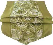 TS341 grün Tischläufer Tischdeko Tischdecke 200x30cm Thai Silk ROSEN edel