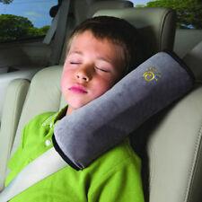Children Soft Headrest Neck Support Pillow Shoulder Pad For Car Seat Belt Gray