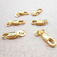 10Pcs 18K Yellow Gold Filled Lobster Clasp GF 18KGF Stamped Tag Free Shippin