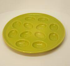 Fiestaware Lemongrass Egg Plate Fiesta Lime Green Deviled Egg Tray F64C