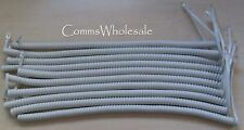 Meridian Norstar Option Nortel BCM Curly Cord Platinum x 10 (fits most phones)