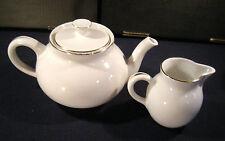 Richard Ginori San Cristoforo Teiera e lattiera ceramica bianca 1950