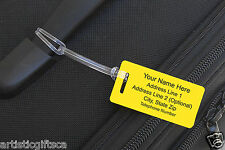 6 Personalized Engraved Plastic Luggage/Sport/I.D. Tags Free Engraving.