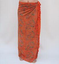 NUOVO EXTRA grande lunga Unisex Premium Qualità Gecko arancio pareo Wrap / sal504p