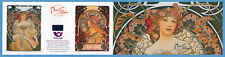 Czech -150 Years Alfons Mucha stamp sheet 2 new 6 stamps unused
