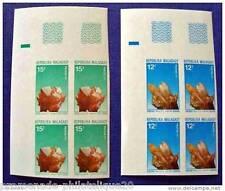 MADAGASCAR timbre-stamp Yvert et Tellier n°482 et 483 non dentelés-Bloc de 4-n**