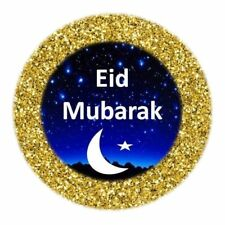 100 Eid Mubarak Stickers Muslim Islam Gold Sparkling (204) Decorations Sticker