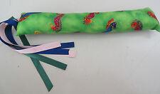 Kitty Cat KICKER TOY CATS Laurel Burch Seahorses Fabric USA Color Ribbon