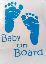 "BABY ON BOARD CAR DECAL-4""x6"""