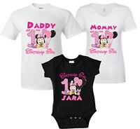 Baby Minnie Mouse Birthday Girl shirt Customized Family matching T-Shirts!
