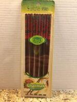 Set of 5 Pairs of Suncha Bamboo Chopsticks Hand Painted Chinese