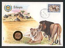 Numisbrief Flag Series Ethiopia Äthiopien Löwe Stempel 1989 NB-A6/47