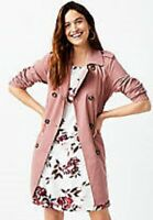 Maurices~New With Tags~Faded Rose Long Trench Coat Jacket~Size XL / 0X
