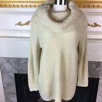 DENIM & SUPPLY Ralph Lauren Womens M Beige Long Sleeve Cowl Neck Knit Sweater