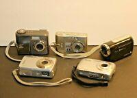 5 Digital Cameras Camcorders Nikon Coolpix Sony Syber-Shot Kodak Jazz Vivitar