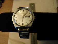 Vintage Caravelle Automatic Day Date Calendar Band Silver Watch Waterproof