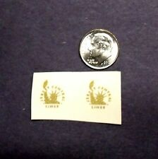 Lionel Post-War Custom Gold Lady Liberty FM PRE-TRIMMED Waterslide Decal